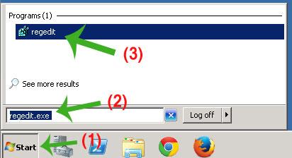 Open Regedit in Windows RDP