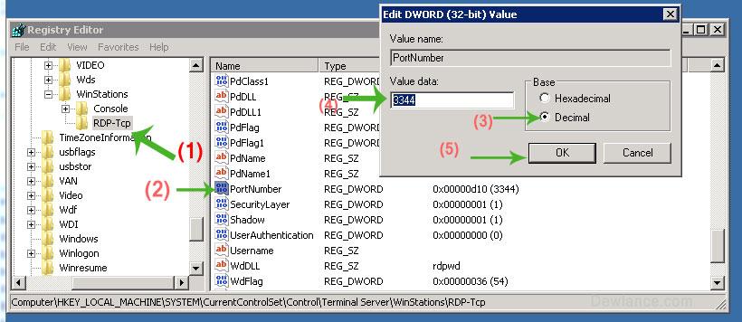 Windows RDP Port Modification