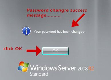 Windows server 2008 r2 vps password setup complete